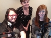 Wired FM Studio Executives, Zara, Sinead and Liese getting ready for Broadcast